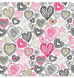 Vintage love doodle pattern vector image vector image