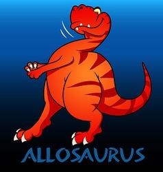 Allosaurus cute character dinosaurs vector image vector image