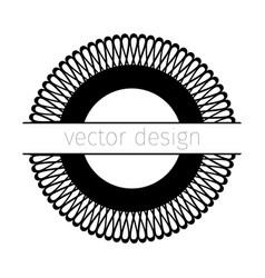 black rosette vector image