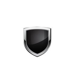 Black steel shield vector image vector image