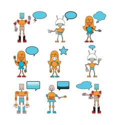 funny robots vector image