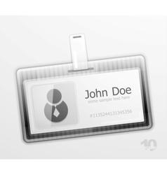identification badge vector image