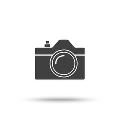 slr camera icon isolated on white background vector image vector image