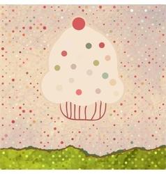 Vintage Cupcake Card Background vector image vector image