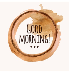 with Good morning phrase and pour coffee b vector image vector image