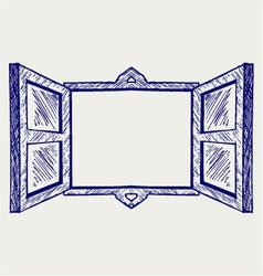 Wooden window vector image vector image