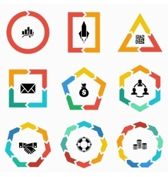 Geometric shapes arrows for infographic vector image vector image
