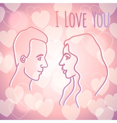 Man and woman in love vector image vector image
