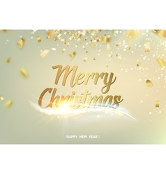 Merry christmas gray background vector image