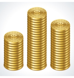 Money coins graph vector image vector image