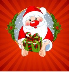Santa Claus Christmas greeting card with Santa Cla vector image vector image