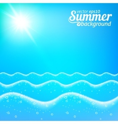 Seascape seamless line background vector image vector image