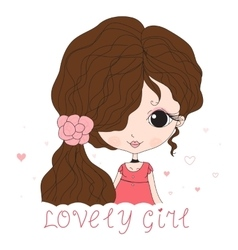 Girl in sketch style vector image