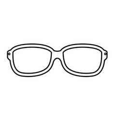 glasses optical lens vector image vector image