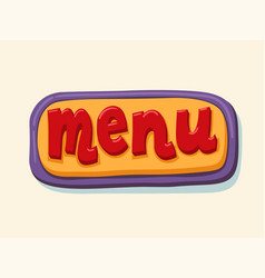 hand drawn menu web button internet button vector image vector image