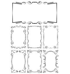 set of beautiful framework vector image vector image