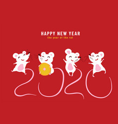 2020 happy chinese new year year rat vector