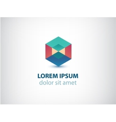abstract geometric colorful crystal logo vector image