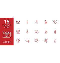 action icons vector image