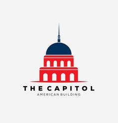 American capitol building logo design vector