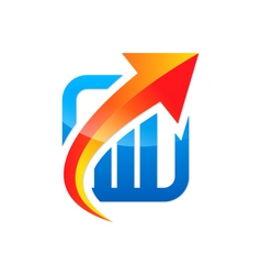 arrow up business finance exchange logo vector image