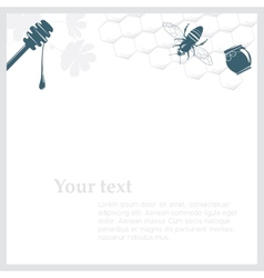 Background with honey vector
