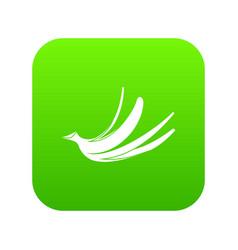 Banana peel icon digital green vector
