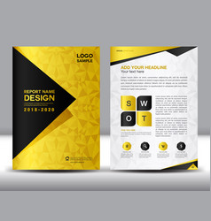 business brochure flyer template in a4 size gold vector image