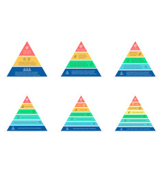 business infographics triangle pyramid with 3 4 vector image