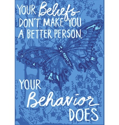 butterfly wisdom vector image