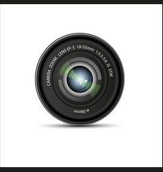 Camera lens on a white background vector