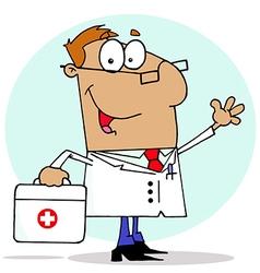 Cartoon doctor vector