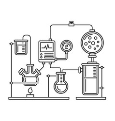 chemistry laboratory infographic with some vector image