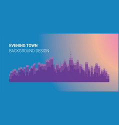 City buildings silhouettes and colors vector