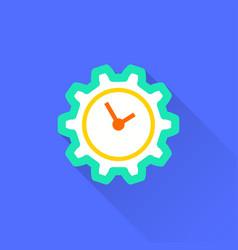 Clock time icon vector