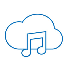 Cloud music storage vector