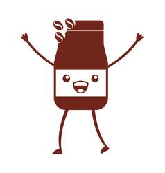 Coffee toast bag kawaii character vector