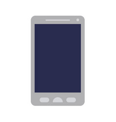 colorful silhouette of smartphone icon vector image