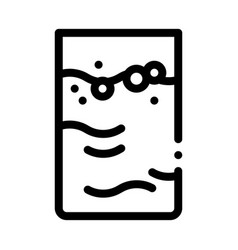 Colostrum mother liquid black icon vector