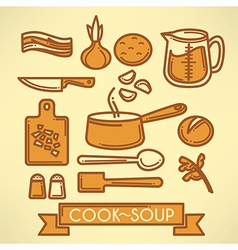 Cook soup vector