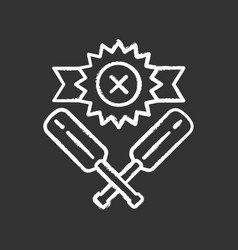Cricket defeat chalk icon total game result vector