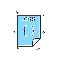 Css application download file files format icon vector