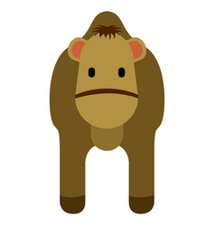 cute camel icon vector image