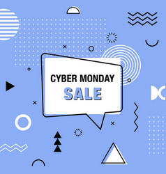 cyber monday banner promo design template in vector image