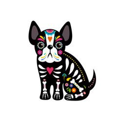 day dead dia de los moertos dogs skull vector image