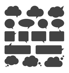empty talk bubble set speech bubbles vector image