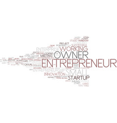 Entrepreneur word cloud concept vector