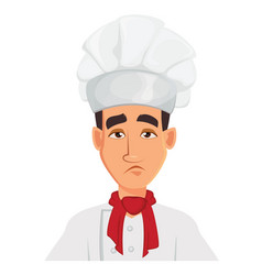 Face expression of chef man sad tired vector