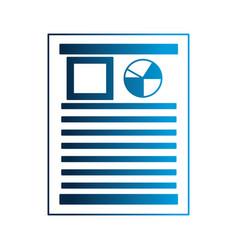 financial document report pie chart vector image