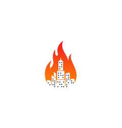 fire town logo icon design vector image